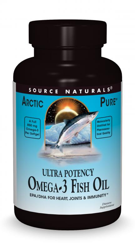 ArcticPure<span class='superscript'>®</span> Ultra Potency Omega-3 Fish Oil bottleshot