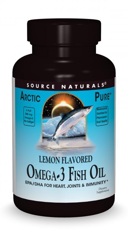 ArcticPure<span class='superscript'>®</span> Lemon Flavored Omega-3 Fish Oil bottleshot