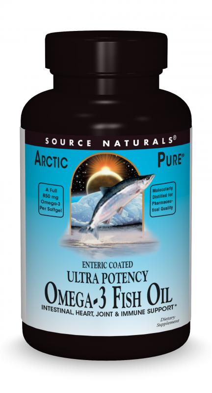 ArcticPure<span class='superscript'>®</span> Enteric-Coated Ultra-Potency Omega-3 Fish Oil bottleshot