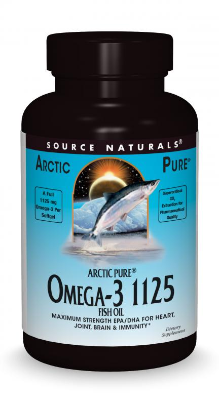 ArcticPure<span class='superscript'>®</span> Omega-3 1125 Fish Oil bottleshot