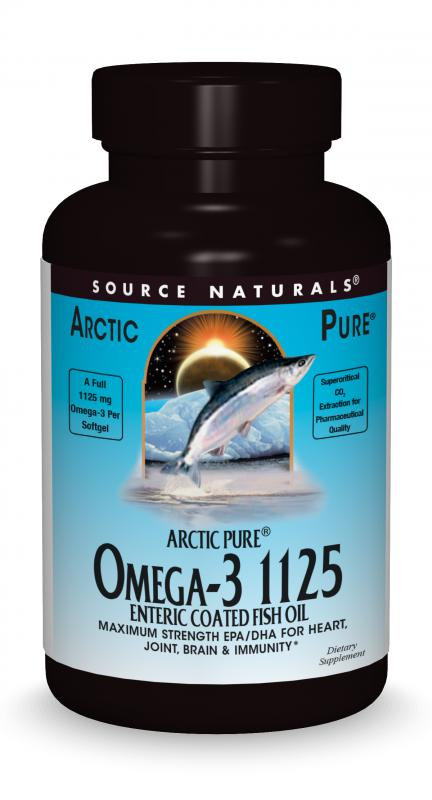 ArcticPure<span class='superscript'>®</span> Omega-3 1125 Enteric Coated Fish Oil bottleshot
