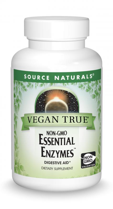 Vegan True<span class='superscript'>®</span> Non-GMO Essential Enzymes™ bottleshot